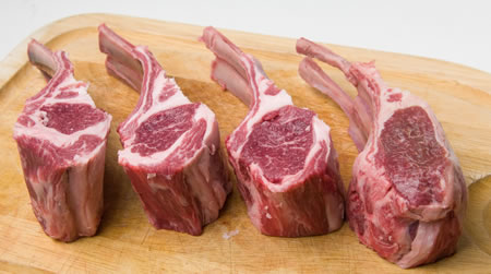 double lamb chop inferno recipes dishmaps keens double lamb chops ...